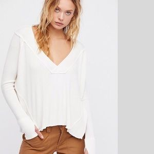 We the Free Oceanview Deep V Thermal Top